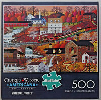 jigsaw puzzle 500 pc Waterfall Valley Wysocki Americana Buffalo Games