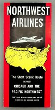 NORTHWEST AIRLINES TIMETABLE OCTOBER 1935 ROUTE MAP