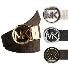 Michael Kors Ladies 551342 Redondo Fivela Reversível Cinto de assinatura MK LOGO