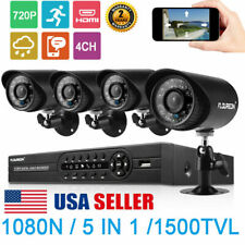 Floureon 4Ch 1080P Dvr Cctv Home Security Ip Camera System Ir Night Vision Kit