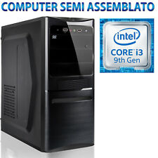 PC COMPUTER DESKTOP SEMI ASSEMBLATO B365M INTEL CORE i3-9100F ALIMENTATORE 500W