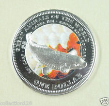 New listing Fiji Coin 1 Dollar 2009 Unc, Great animals of the World - Koi