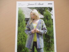 James C Brett - Ladies Chunky Jacket  Knitting Pattern - JB462
