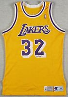 Magic Johnson Signed Pro Cut 1992-93 Los Angeles Lakers Jersey With Beckett COA
