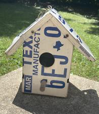 New ListingTexas License Plate Birdhouse Handmade