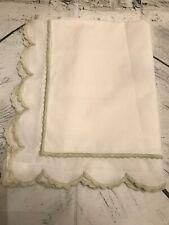 FAB! Sferra White 100% Egyptian Cotton Embroidered Edges Boudoir Pillow Sham