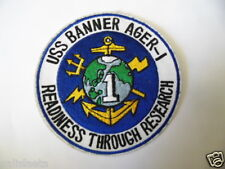 PATCH US NAVY : USS BANNER AGER-I / MARINE USA