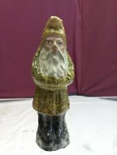"""🎅 Antique 4.75"""" Gold / Belsnickle German Candy Container Ornament 🎅"""