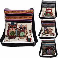Vintage Embroidered Owl Tote Bags AU Women Shoulder Bag Handbags Postman Package