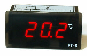 LED Thermometer 0 bis 150°C !!! Einbauthermometer Ölthermometer rot, kfz, Öl