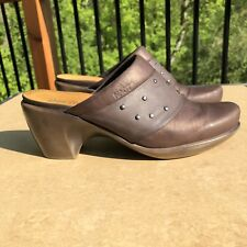 Naot Bronze Brown Leather Mules Clogs Slides Sz 38 US 7 Or 7.5