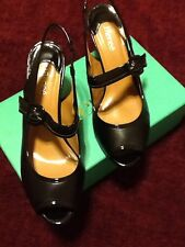 NEW. J RENEE BLACK KIDSKIN PATENT PUMP12W