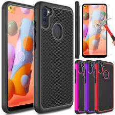 For Samsung Galaxy A11/A21/A51/A71 5G/A01 Phone Case Cover w/ Screen Protector