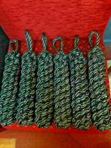6 Black Narrowboat/Widebeam Rope Fenders
