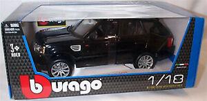 Range Rover Sport in Black  - 1:18 Scale Diecast Car burago