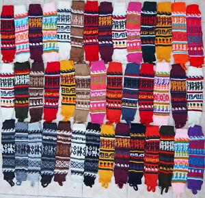 PERUVIAN LEG WARMERS ALPACA WOOL PERU THERMAL WARM KNITTED WARM BOOT WELLY SOCKS