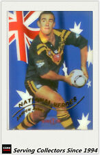1996 Dynamic Rugby League National Heroes Acetate Card NH1 Andrew Johns