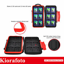 KIORA Water-Resistant Memory Card Case With Carabiner For 12SD&12 Micro SD Cards