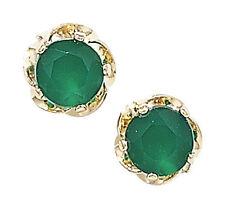 Orecchini di lusso verde con zircone