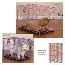 Dog Puppy Crates Deco II Strong Durable ProSelect  Fold- Up Crate Floral Design
