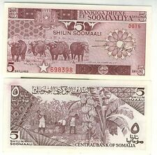 SOMALIE billet neuf de 5 SHILLINGS Pick31c  buffle et plantation de banane 1987