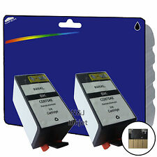 2 Black Chipped non-OEM Printer Ink Cartridges for HP Officejet 6500A [920]
