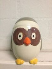 NEW Handpainted Handmade OWL Money Box Piggy Bank Ceramic China Porcelain Cute