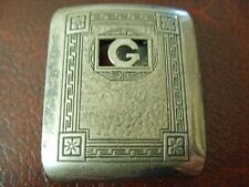 AMERICAN 'GIANT GRIP' SILVER FRONTED ENGRAVED BELT BUCKLE 21g