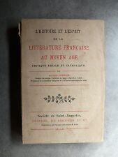 A. Charaux L'HISTOIRE ET L'ESPRIT DE LA LITTÉRATURE FRANÇAISE AU MOYEN ÂGE 1894