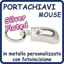 Portachiavi MOUSE  in Silver Plated PERSONALIZZATO con Foto e Testo!!!I