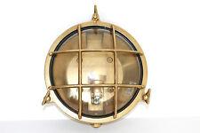 ESTERNI ø 100 H 190 ARREDO CASA OLD MARINA LAMPADA APPLIQUE OTTONE DA INTERNI