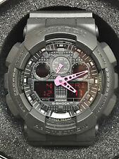 Casio G-Shock GA100C-1A4 Analog Digital Black & Pink Digital Watch