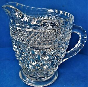 Vintage Anchor Hocking Clear Wexford Creamer