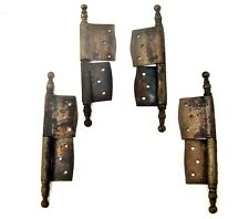 Antique French iron hinges Window Furniture Cabinet Door Lot of four