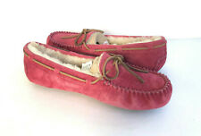 UGG DAKOTA CHEMISE PINK SHEARLING LINED MOCCASIN SHOE US 9 / EU 40 / UK 7.5