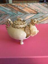 Nini Collectible Hand Painted Miniature Flying Dragon Teapot Trinket Box