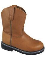 Smoky Children's Kid's Brown Leather Wellington Western Cowboy Boot
