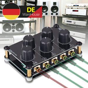 Mini 4 Kanal Line Mixer Live Studio Aufnahmen Passiv Stereo Analog Audio Mixer