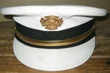Vintage OBSOLETE 1950's Azusa, CA Fire Dept. Hat size 7-1/4