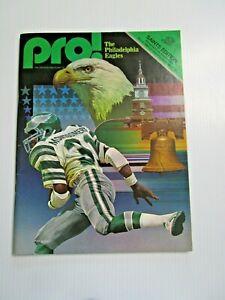 1980 NFL NEW ORLEANS SAINTS vs PHILADELPHIA FOOTBALL PROGRAM ARCHIE MANNING