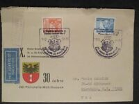 1981 Mulhausen Germany to Glendale New York USA AG Philatelic Airmail Cover