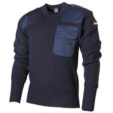 BW Pullover mit Brusttasche blau 58