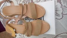 The Leather Store Ladies Beige Wedge shoes Size 4 (Euro 37)