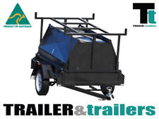 6x4 SINGLE AXLE TRADESMAN'S TRAILER - NEW WHEELS – 600mm TOP - JOCKEY