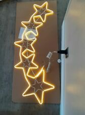 4ft Outdoor Star Wall Hanging Christmas Decoration Warm White Rope Light