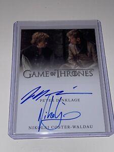 Game Of Thrones Nikolaj C Waldau/Peter Dinklage Dual Autograph Valyrian Steel