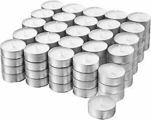 100-400 Teelichter weiß 4 h Brenndauer Kerzen Teelichte in Alu Hülse unbeduftet