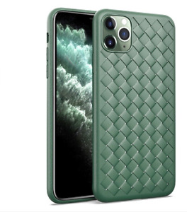 Ultra Thin Woven Breathable Shockproof Soft Silicone Case for iPhone 11 Pro Max