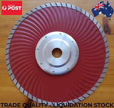 TURBO WAVE ALUMINUM FLANGE 230mm DIAMOND HOT PRESS FLUSH CUTTING BLADE WET DRY