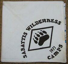 Sabattis Wilderness Camps (NJ) 1971 Neckerchief  BSA